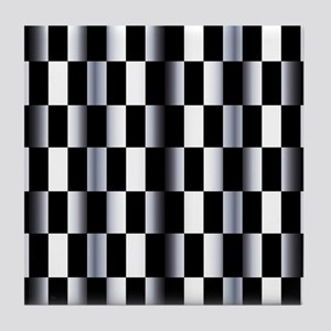 Abstract Checkerboard Tile Coaster