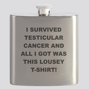 I SURVIVED TESTICULAR CANCER Flask