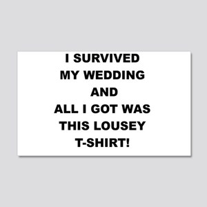 I SURVIVED MY WEDDING Wall Decal