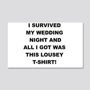 I SURVIVED MY WEDDING NIGHT Wall Decal