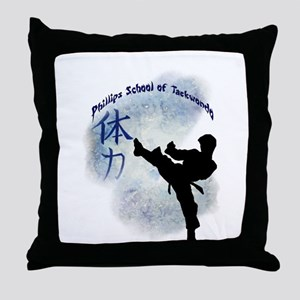 Phillips School of Taekwondo Throw Pillow