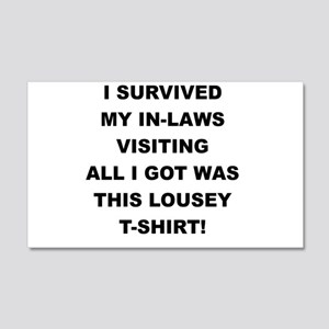 I SURVIVED MY IN-LAWS VISITING Wall Decal