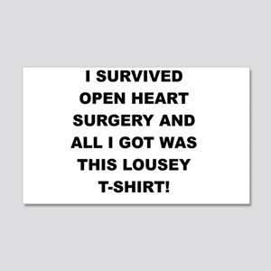 I SURVIVED HEART SURGERY Wall Decal