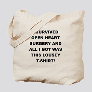 I SURVIVED HEART SURGERY Tote Bag