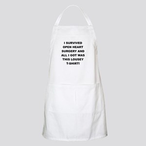 I SURVIVED HEART SURGERY Apron