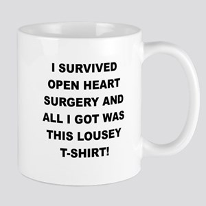 I SURVIVED HEART SURGERY Mugs