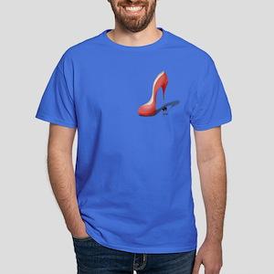Giant Red Stiletto - Heel Dancer Dark T-Shirt