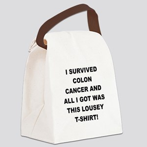 I SURVIVED COLON CANCER Canvas Lunch Bag