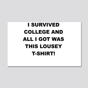 I SURVIVED COLLEGE Wall Decal