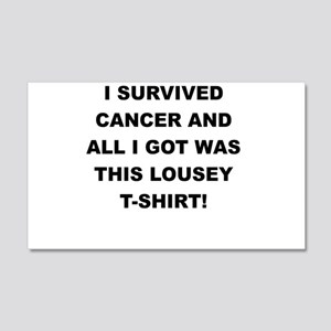 I SURVIVED CANCER Wall Decal