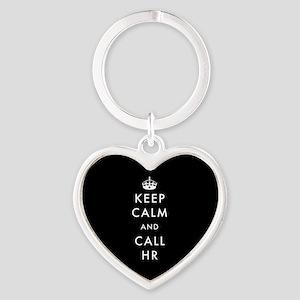 Keep Calm and Call HR Heart Keychain