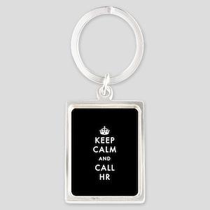 Keep Calm and Call HR Portrait Keychain