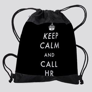 Keep Calm and Call HR Drawstring Bag