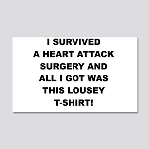I SURVIVED A HEART ATTACK Wall Decal