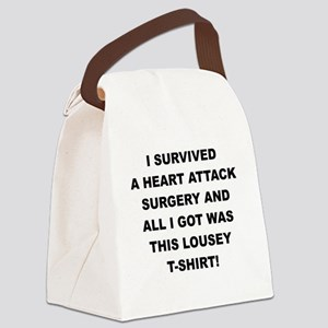I SURVIVED A HEART ATTACK Canvas Lunch Bag