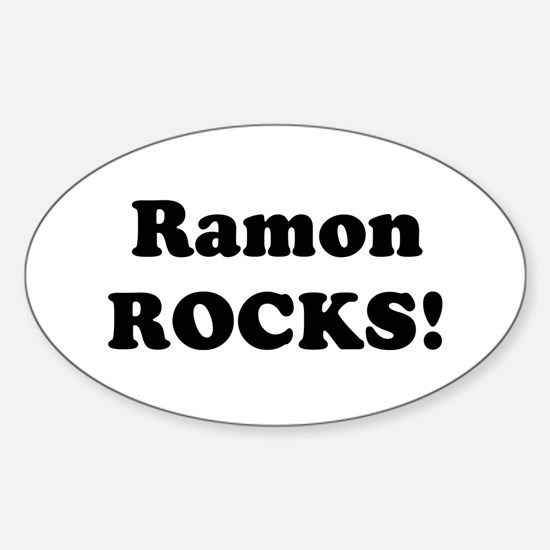 Ramon Rocks! Oval Decal