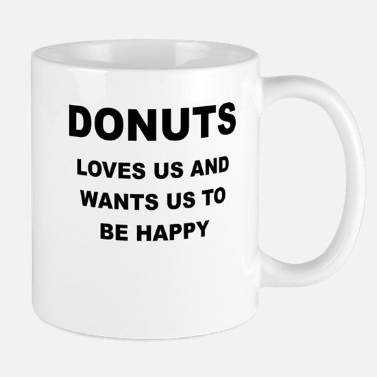 DONUTS IS PROOF GOD LOVES US Mugs