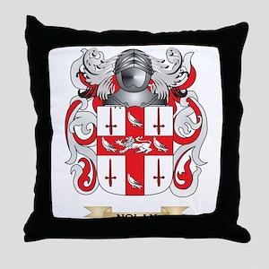Nolan Coat of Arms (Family Crest) Throw Pillow