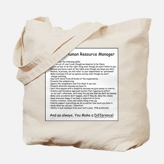 Wanted: HR Manager Tote Bag