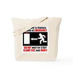 Clamp, Cut, and Run Tote Bag