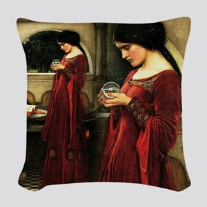 Crystal Ball Waterhouse Woven Throw Pillow