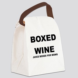 BOXED WINE JUICE BOXES FOR MOM Canvas Lunch Bag