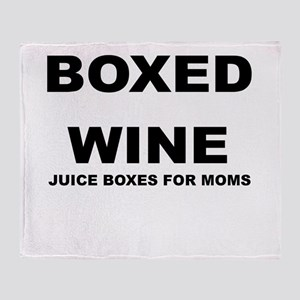 BOXED WINE JUICE BOXES FOR MOM Throw Blanket