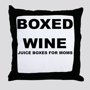 BOXED WINE JUICE BOXES FOR MOM Throw Pillow