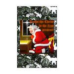 'Santa knelt' Mini Poster Print