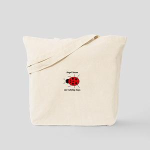 Ladybug with Angel kisses and ladybug hugs Tote Ba