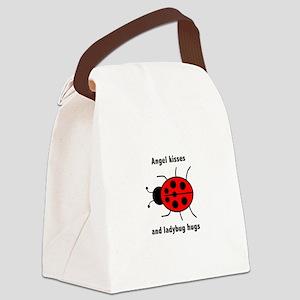 Ladybug with Angel kisses and ladybug hugs Canvas