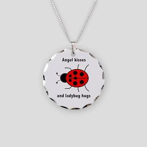 Ladybug with Angel kisses and ladybug hugs Necklac