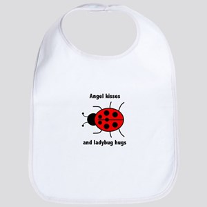 Ladybug with Angel kisses and ladybug hugs Bib