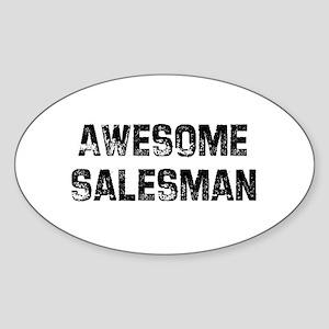 Awesome Salesman Oval Sticker
