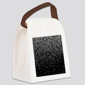 Black & Glam Silver Glitter C Canvas Lunch Bag