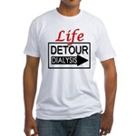 Life Detour Fitted T-Shirt