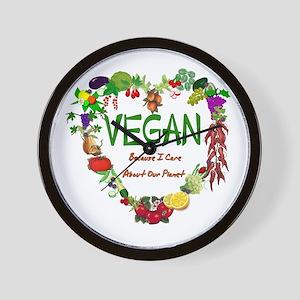 Vegan Heart Wall Clock