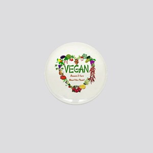 Vegan Heart Mini Button