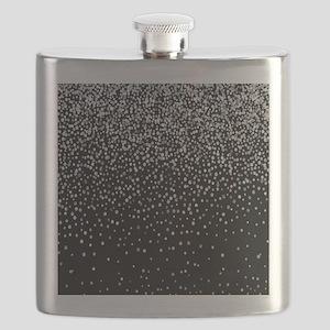 Black & Glam Silver Glitter Confetti Flask