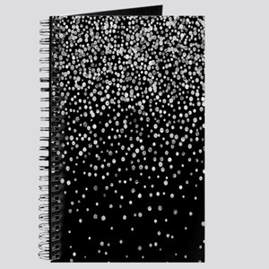 Black & Glam Silver Glitter Confetti Journal