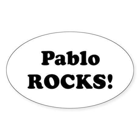 Pablo Rocks! Oval Sticker