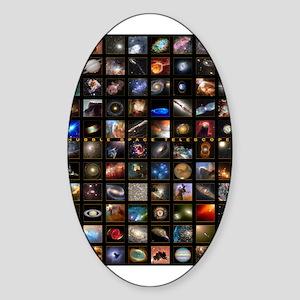 Hubble Space Telescope Oval Sticker