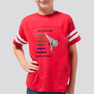 Karate Live by the Creed Youth Football Shirt