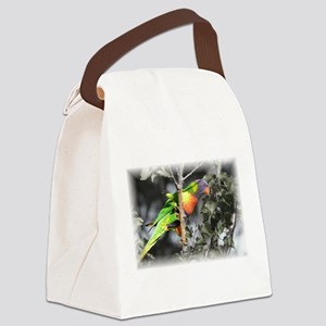 Australian Rainbow Lorikeet Canvas Lunch Bag