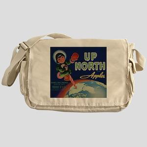 Vintage Fruit Vegetable Crate Label Messenger Bag
