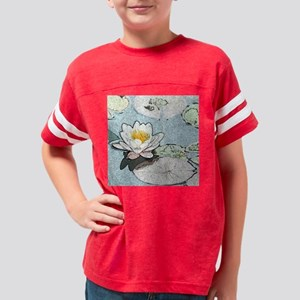 Waterlilies Ornament Youth Football Shirt
