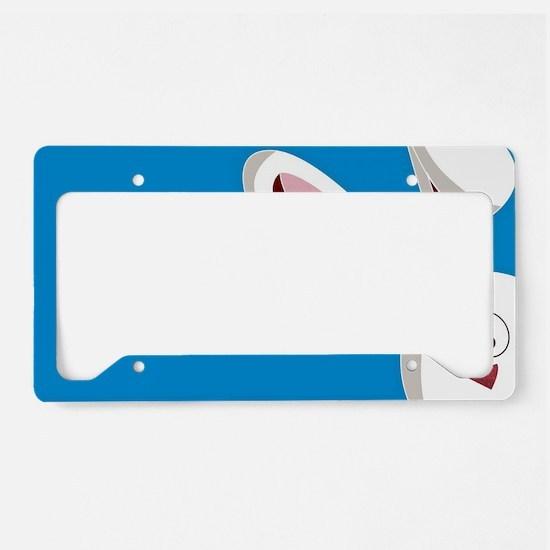 Peeking Bunny License Plate Holder