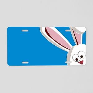 Peeking Bunny Aluminum License Plate