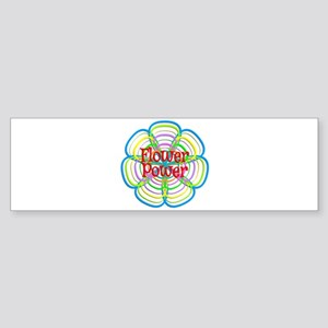 Fun Flower Power Bumper Sticker