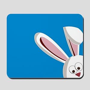 Peeking Bunny Mousepad